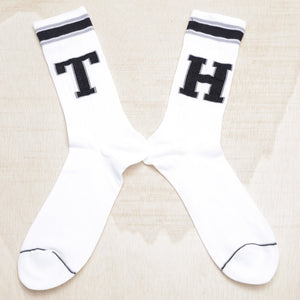 TOMMY HILFIGER PATCH WHITE SOCKS
