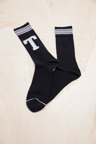 TOMMY HILFIGER PATCH BLACK SOCKS