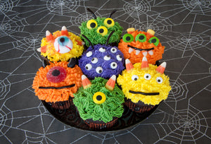 Monster Cupcakes! A fun halloween activity for kids