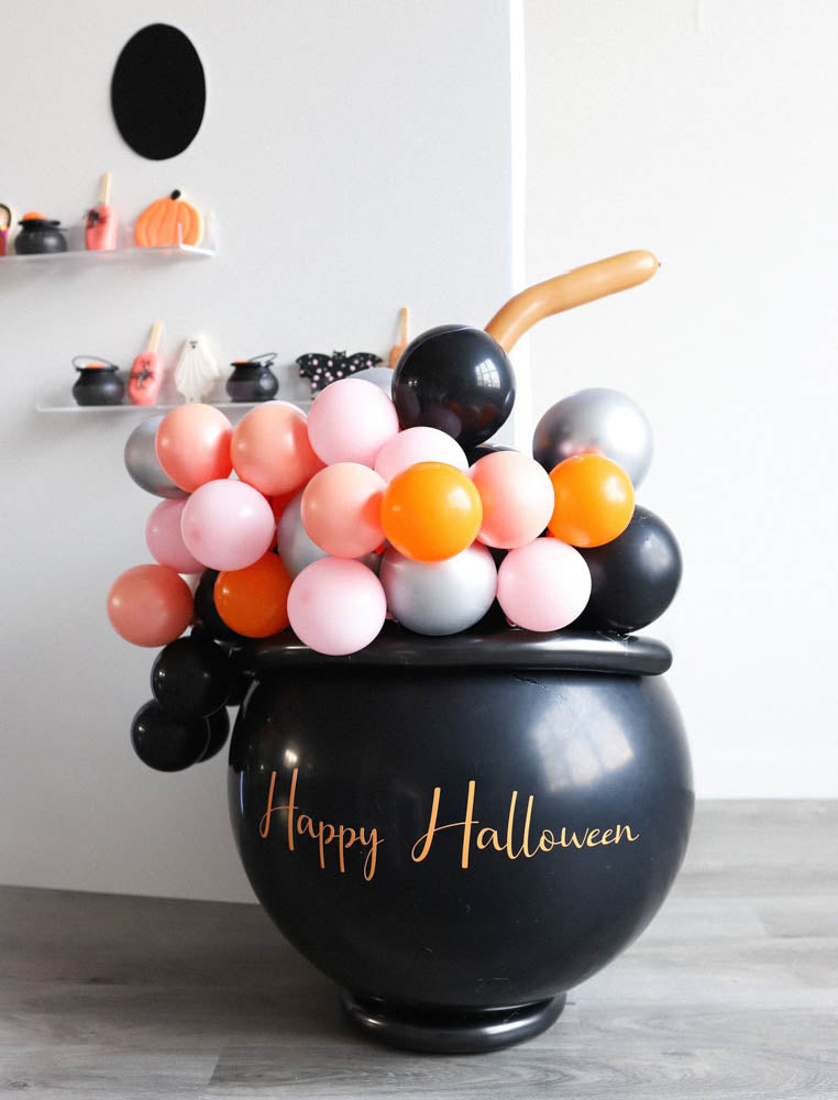 Bubbly Balloon cauldron by Sherry, Little Chic Parties, Covid Halloween Spooktacular A Little Confetti Party Blog
