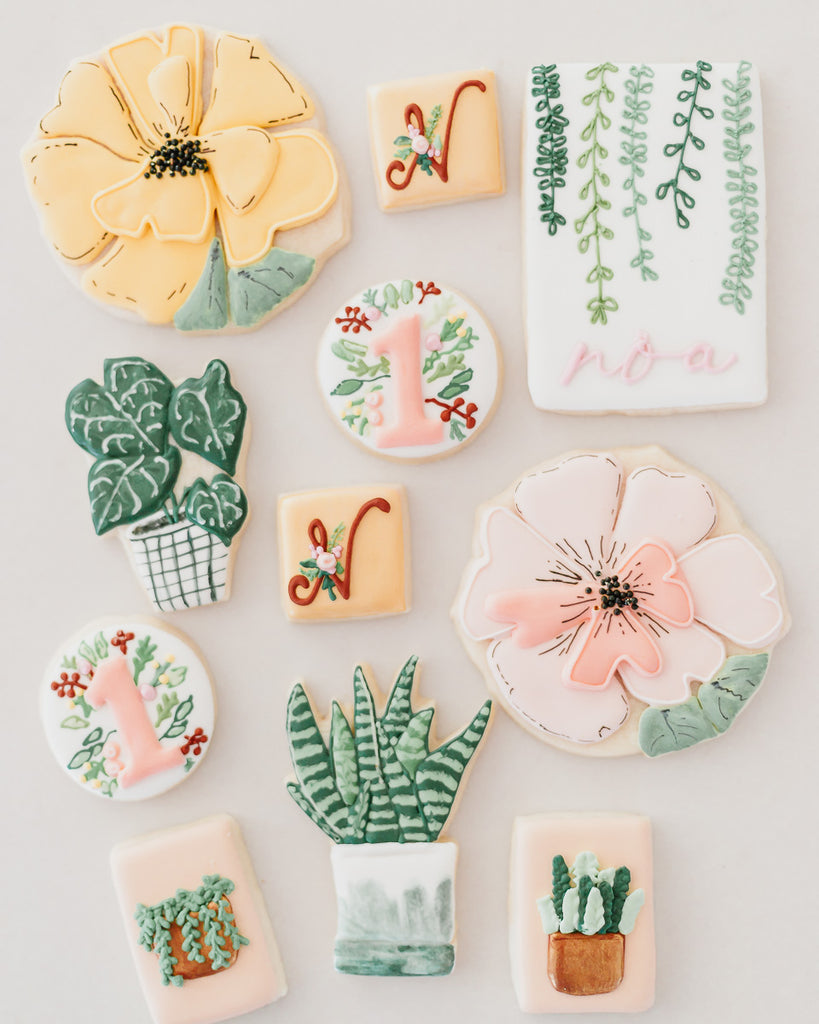 Floral Sugar Cookies First Birthday Party