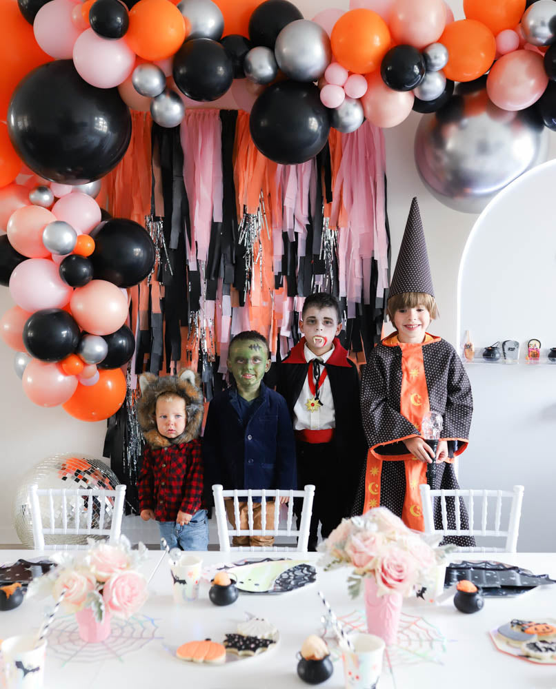 Covid Halloween Spooktacular Party Boys in Costume A Little Confetti Party Blog