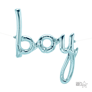 Boy Script Balloon - Blue - A Little Confetti