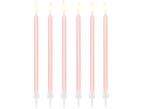 Light Pink Birthday Candles