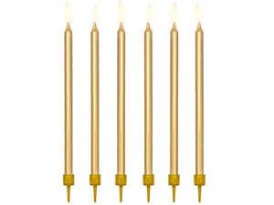 Metallic Gold Birthday Candles