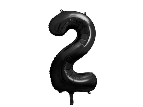 34 inch jumbo black number 2 foil balloon available at A Little Confetti