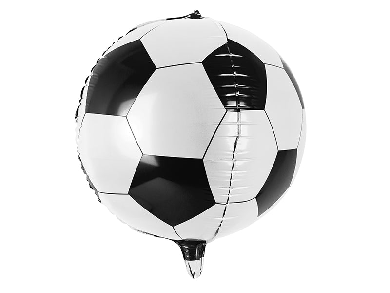 Black and White Colour Soccer Ball Foil balloons available at A Little Confetti