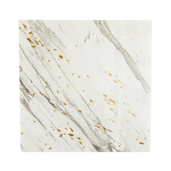 Blanc White Marble Small Napkins - A Little Confetti