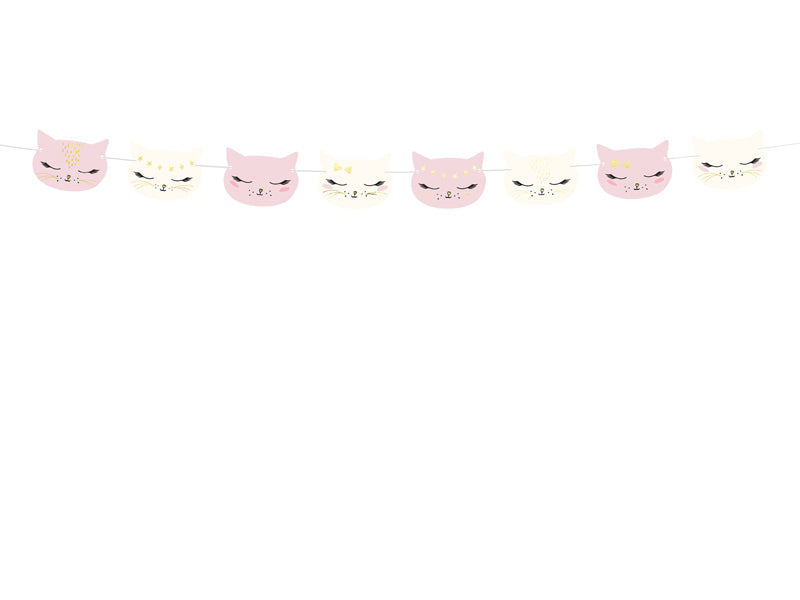 Mix of designs and colours garland cat available at A Little Confetti