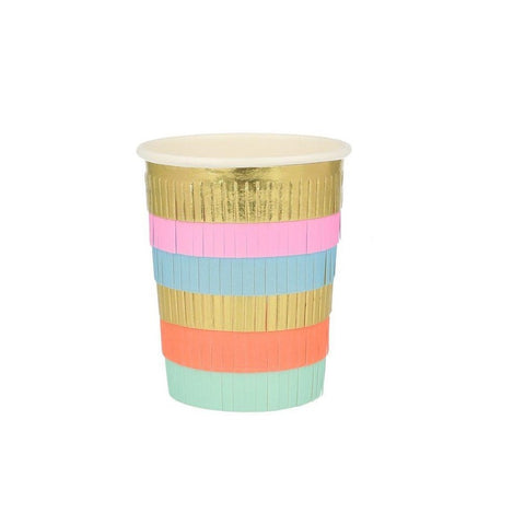 Circus Fringe Party Cups - A Little Confetti