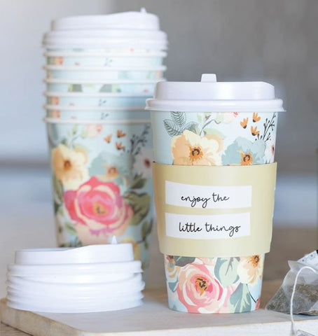 Floral To-Go Cups