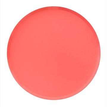 Coral Large Plates - A Little Confetti