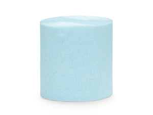 Light Blue Crepe Paper Streamer