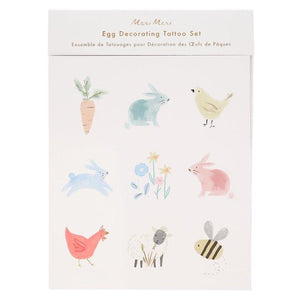 Spring Bunny Egg Decorating Tattoo Set