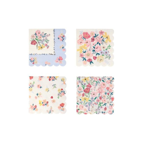 English Garden Small Napkin, perfect for bridal shower, tea party, garden party and more.  By Meri Meri, available at A Little Confetti.