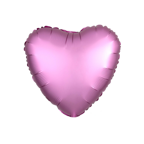 This pink foil balloon has a beautiful matte stain finish.