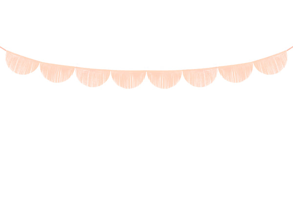 Peach Scalloped Fringe Garland