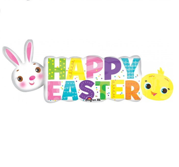 Happy Easter Balloon Banner