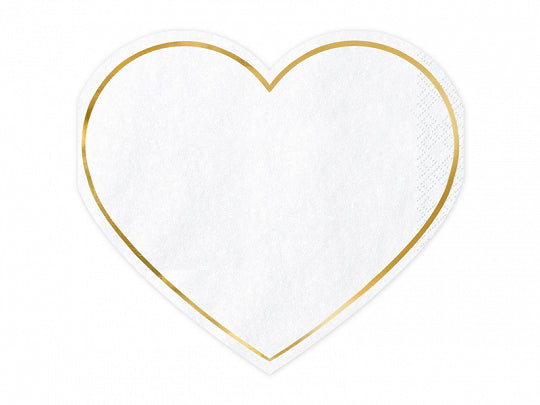 Heart Shaped Napkins