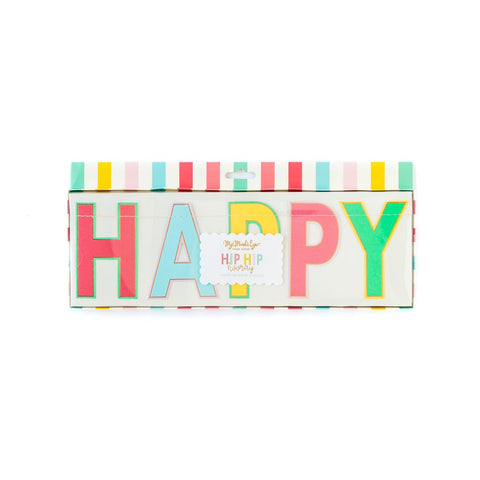 Hip Hip Hooray Happy Birthday Banner - A Little Confetti