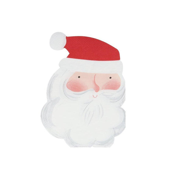 Jolly Santa Napkins with red hat and white beard, by Meri Meri, available at A Little Confetti