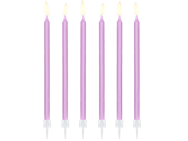 Lilac Birthday Candles