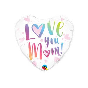 Love You Mom Heart Balloon