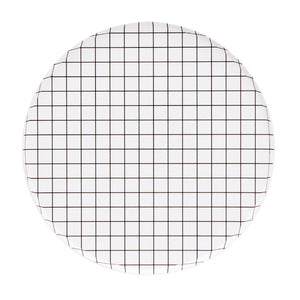 Black and white grid plates at A Little Confetti