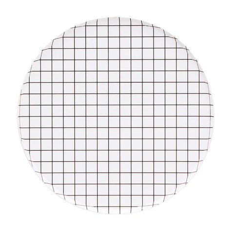 Black and White Grid Large Plates - A Little Confetti