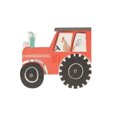 Red Tractor Napkins On The Farm Collection Rooster