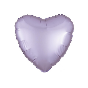 Pastel Lilac Heart Satin Luxe Balloon