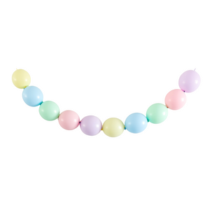 Pastel Rainbow Linkable Balloon Garland - A Little Confetti