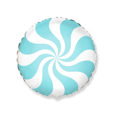 Pastel Blue Swirl Peppermint Candy Balloon
