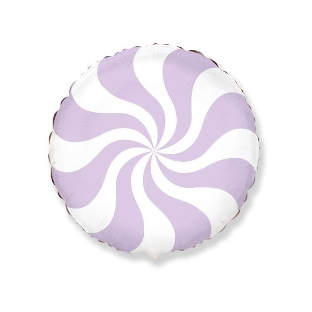 Pastel Lilac Swirl Peppermint Candy Balloon