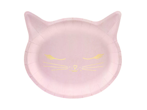 Pink Cat Plates
