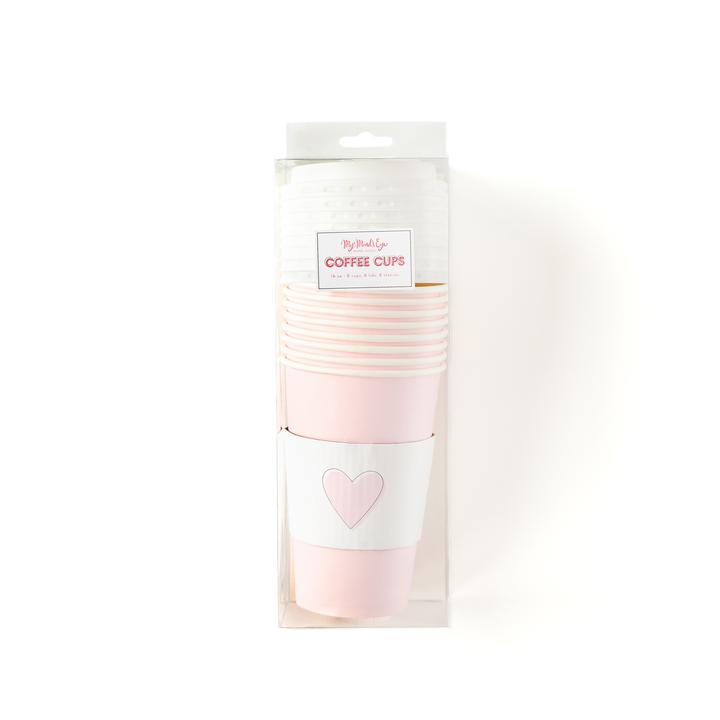 Pink Heart Coffee Cups