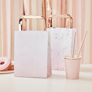 Pink Ombre Watercolour Rose Gold Party Bags