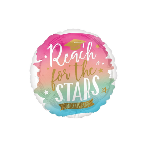 Reach for the Stars / Your Future Looks Bright - Double Sided Graduation Balloon