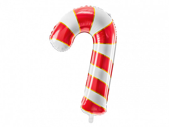 Red and White Candy Cane Balloon with gold trim