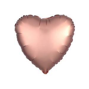 Rose Copper Heart Satin Luxe Balloon - A Little Confetti