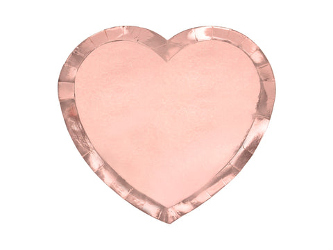 Rose Gold Heart Plates