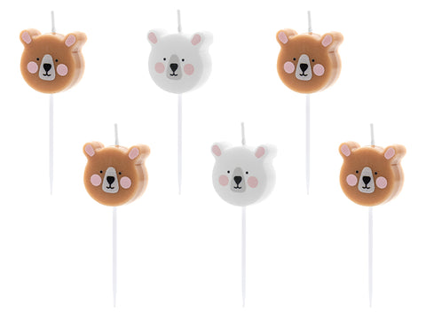 Bear Birthday Candles