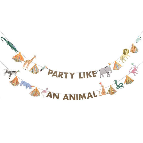Safari Animals Large Garland - A Little Confetti