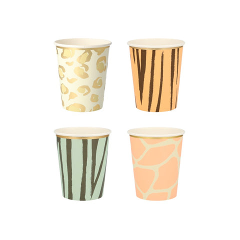 Safari Animal Print Safari Cups - A Little Confetti