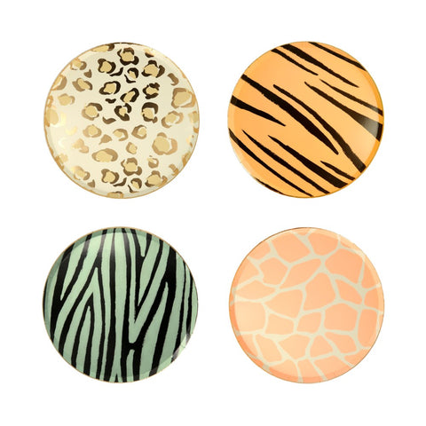 Safari Animal Print Side Plates - A Little Confetti
