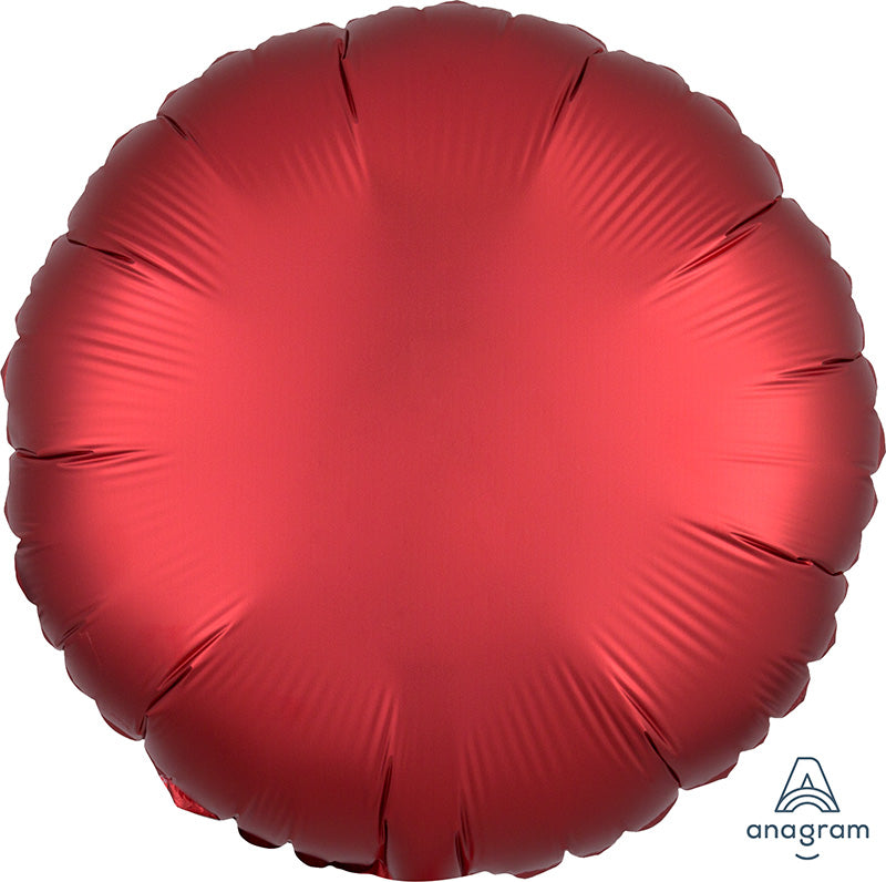 Sangria Satin Luxe Foil Circle Balloon