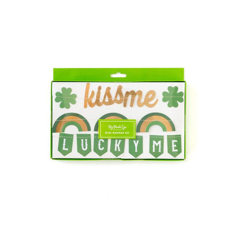 St. Patrick's Day Mini Banner Set