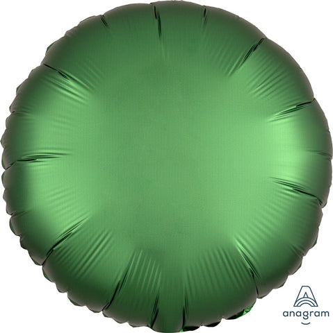 Emerald Green Satin Luxe Circle balloon