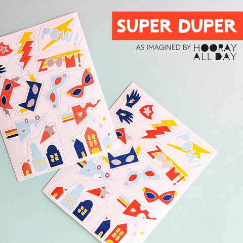 Stickies™ Super Hero Edible Decorating Stickers | Cupcake and Cake Toppers - A Little Confetti