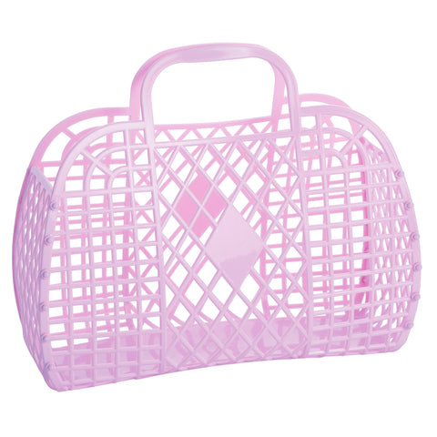 Lilac Large Retro Basket